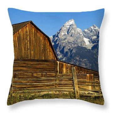 Barn On Mormon Row Throw Pillow