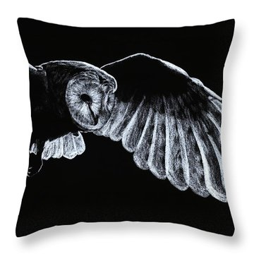Barn Owl Throw Pillow by Richard Young