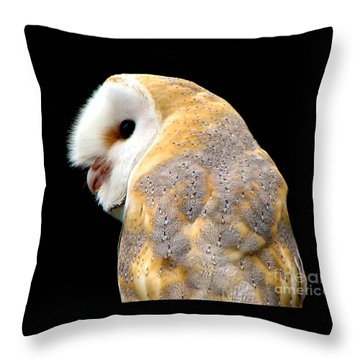 Throw Pillow featuring the photograph Barn Owl by Rose Santuci-Sofranko