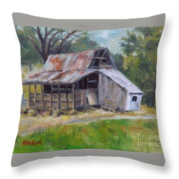 Barn Shack Throw Pillow