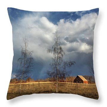 Throw Pillow featuring the photograph Barn Storm by James Eddy