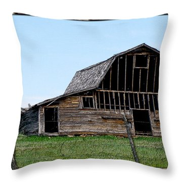 Throw Pillow featuring the photograph Barn by Susan Kinney