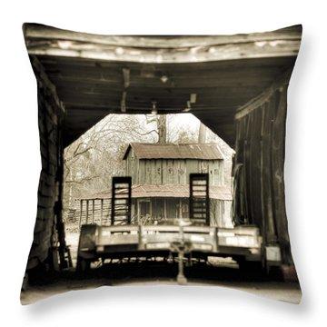 Barn Through A Barn Throw Pillow