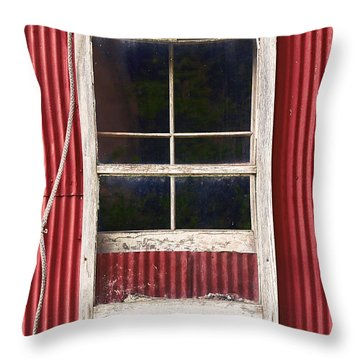 Barn Window And Rope Throw Pillow