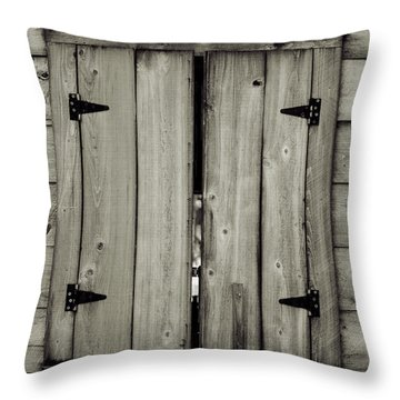 Barn Window Throw Pillow