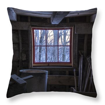 Barn Window II Throw Pillow by Tom Singleton
