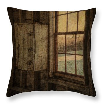 Barn Window Throw Pillow by Tom Singleton
