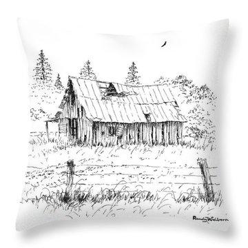 Barn With Skylight Throw Pillow