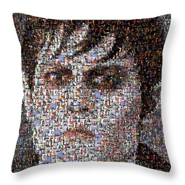 Barnabas Collins Johnny Depp Mosaic Throw Pillow by Paul Van Scott