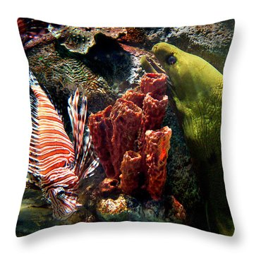 Barnacle Buddies Throw Pillow by Bill Pevlor