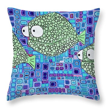 Barnacle Fish Throw Pillow