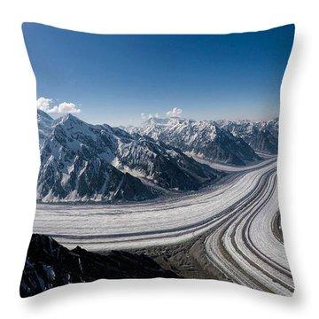 Barnard Glacier Alaska Throw Pillow