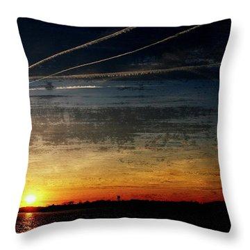 Barnegat Bay Sunset 1 - Jersey Shore Throw Pillow