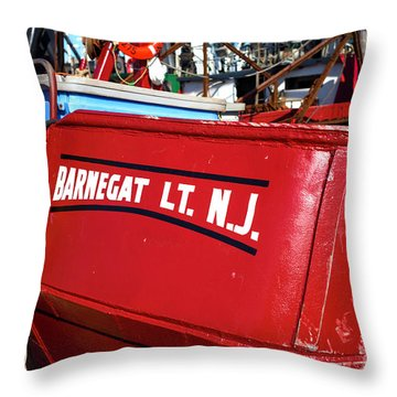 Throw Pillow featuring the photograph Barnegat Light by John Rizzuto