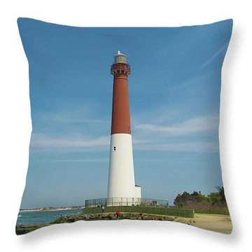 Barnegat Lighthouse Throw Pillow by Bill Cannon