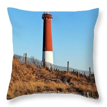 Barnegat Lighthouse Nj Throw Pillow by John Greim
