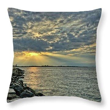 Barneget Lighthouse  New Jersey Throw Pillow