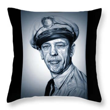 Barney Fife Throw Pillow by Fred Larucci