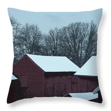 Barnscape Throw Pillow