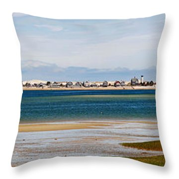 Barnstable Harbor Panorama Throw Pillow by Charles Harden