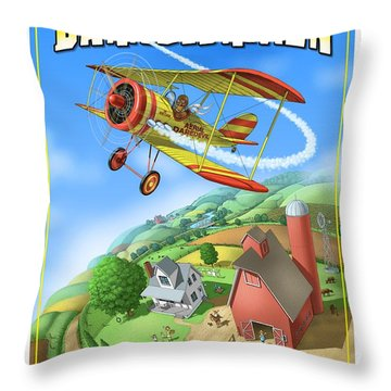 Barnstormer Throw Pillow