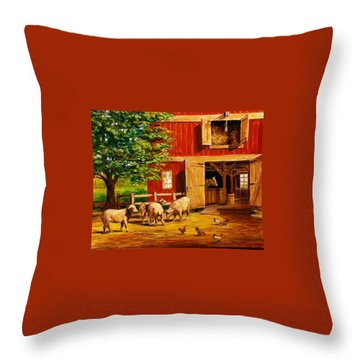 Barnyard  Throw Pillow