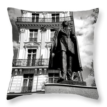 Baron Hausmann Throw Pillow by Olivier Le Queinec