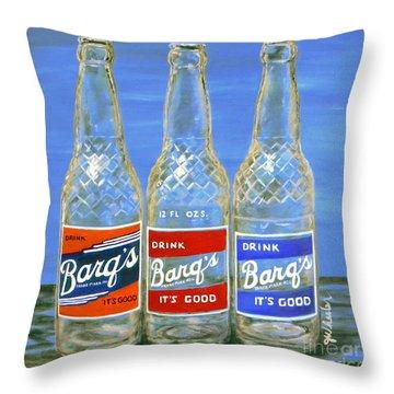 Barq's Trifecta Throw Pillow