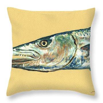 Barracuda Fish Throw Pillow