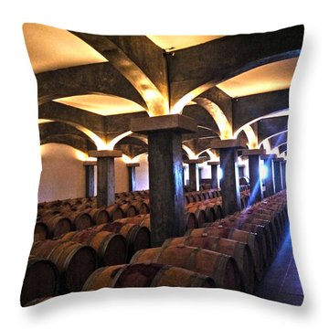 Barrel Cellar Throw Pillow
