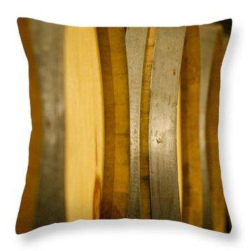 Barrels Of Fun Throw Pillow by Lisa Knechtel