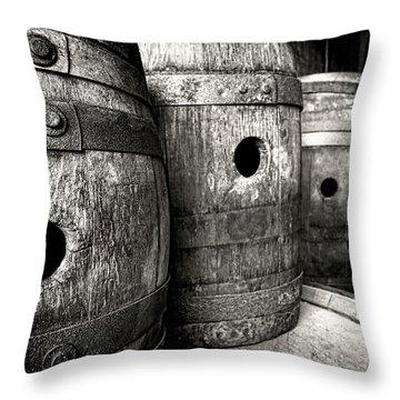 Barrels Of Laugh Past  Throw Pillow