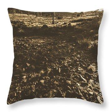 Barren And Hostile Australian Summer Landscape Throw Pillow