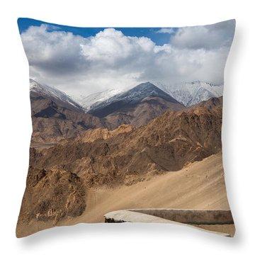 Barren Himalayas Throw Pillow