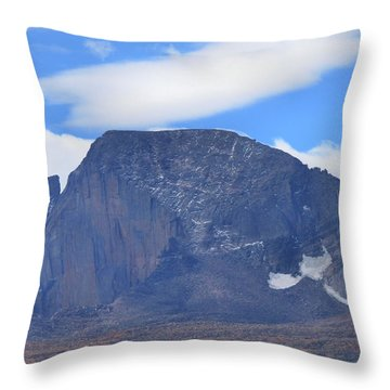Throw Pillow featuring the photograph Barren Mountain Landscape Colorado by Dan Sproul