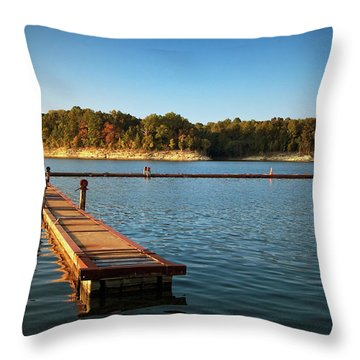 Barren River Lake Dock Throw Pillow