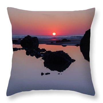 Barricane Beach In Devon Throw Pillow