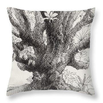 Barringtonia Tree Throw Pillow
