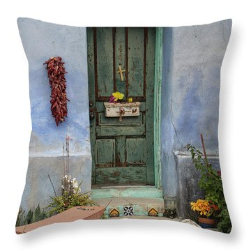 Barrio Door Throw Pillow