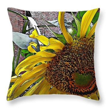 Barrio Sunflower 3 Throw Pillow