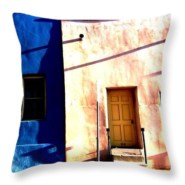 Throw Pillow featuring the photograph Barrio Viejo 1 by Michelle Dallocchio