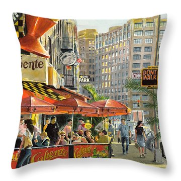 Greenwich Village Throw Pillows