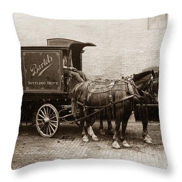 Bartel's Brewery Edwardsville Pennsylvania... Throw Pillow