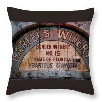 Bartels Winery Throw Pillow