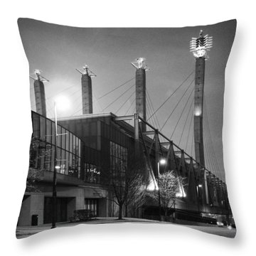Bartle Hall Throw Pillow by Jim Mathis