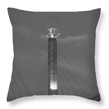 Bartle Hall Pylons Art Throw Pillow