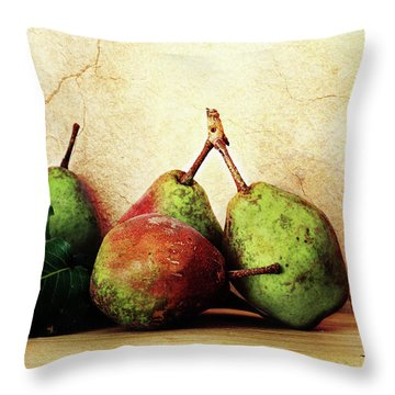 Bartlett Pears Throw Pillow