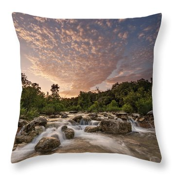 Barton Creek Greenbelt At Sunset Throw Pillow