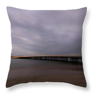 Throw Pillow featuring the photograph Barwon Heads Bridge by Linda Lees