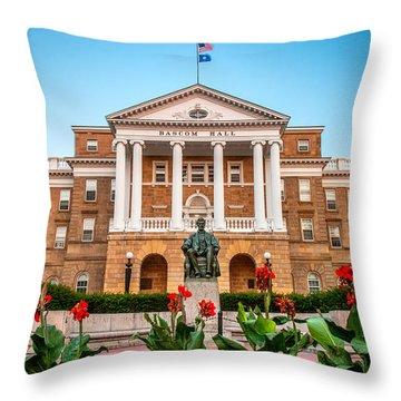 Bascom Hall Throw Pillow